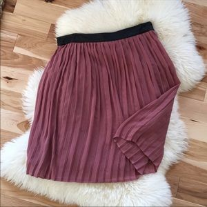 Plum Colored Pleated Skirt
